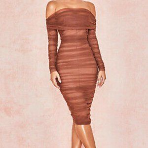 House of CB Anais Dress in Chestnut